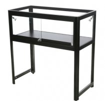 Glasmonter Showcase Desk Duo Svart