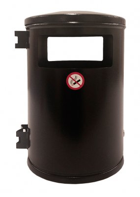 Papperskorg city 35 liter Svart